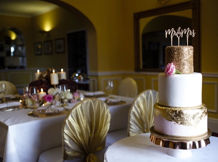 Wedding Cake at Gretna Chase Hotel